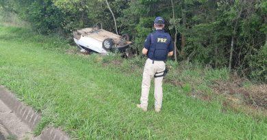 Acidente na BR 277, em Palmeira